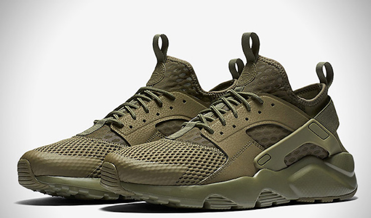 New Nike Huarache Run BR Military Green