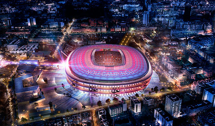 Presentation Nou Camp Nou stadium