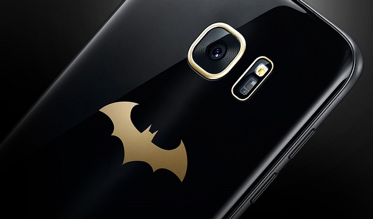 Samsung Black & Gold Batman-Themed Galaxy S7 Edge