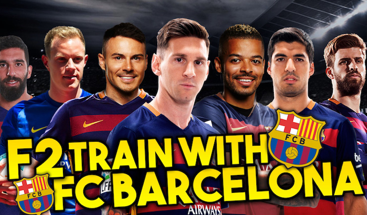 F2 Freestylers train with FC Barcelona!