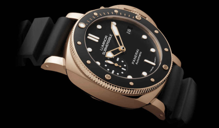 Panerai Presents the New Luminor Submersible 1950 3 Days Automatic Oro Rosso