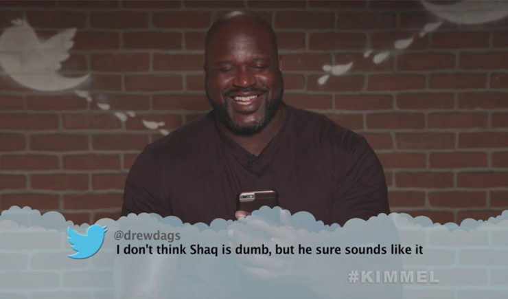 """Shaq, James Harden & More Get Roasted in Barbaric NBA Edition of """"Mean Tweets"""""""