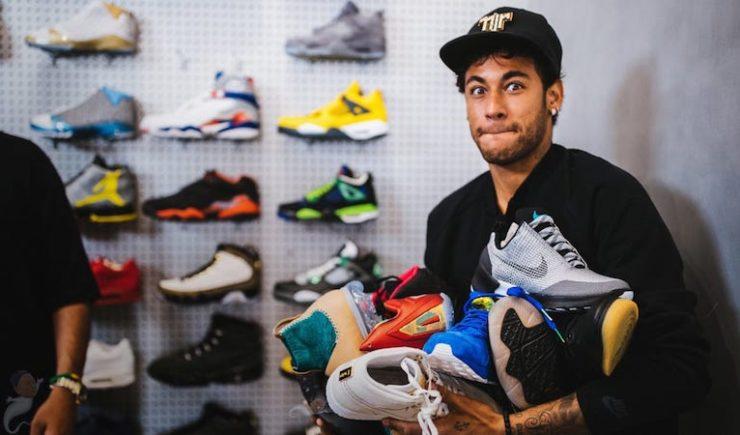 Neymar Jr. Drop $18,000 on Nike Sneakers