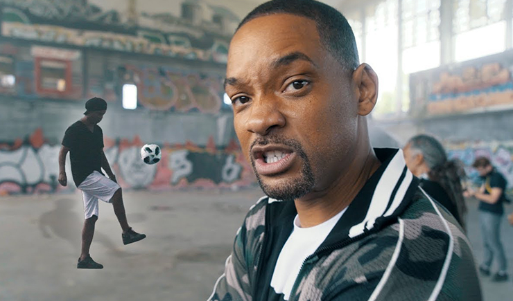 Will Smith and Ronaldinho Shootout at Nicky Jam World Cup Video Shoot